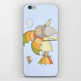 Da Vinci and his Flying Machine iPhone Skin