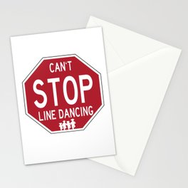 Funny Line Dancing Stop Sign Stationery Cards
