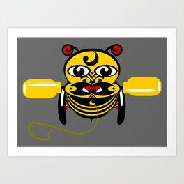 Hei Tiki Bee Toy Art Print