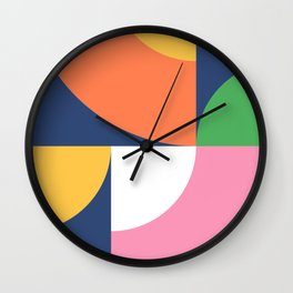 Abstract Geometric 17 Wall Clock
