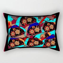A Steampunk Factory Machine Guide Rectangular Pillow