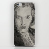 dana scully iPhone & iPod Skins featuring Scully by William Buck