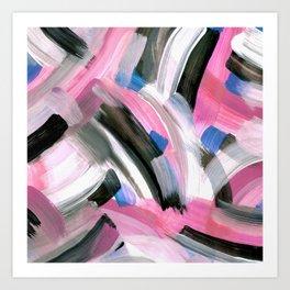 Crossing Pink Art Print