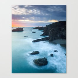 Oregon Coast Sunset at Thunder Rock Cove Canvas Print