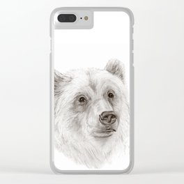 Grizzly :: A North American Brown Bear Clear iPhone Case