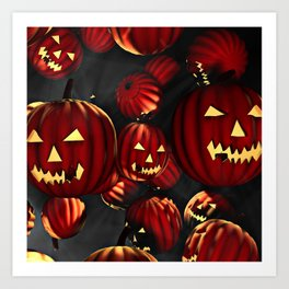 Scary Halloween Art Print