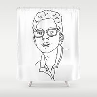 allyson johnson Shower Curtains featuring Alex Johnson by Alex Johnson