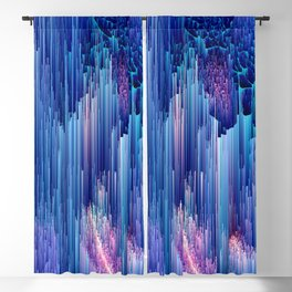 Beglitched Waterfall - Abstract Pixel Art Blackout Curtain