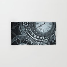 Silver Steampunk Clockwork Hand & Bath Towel