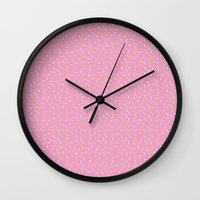 sprinkles Wall Clocks featuring Sprinkles by Diana Willett