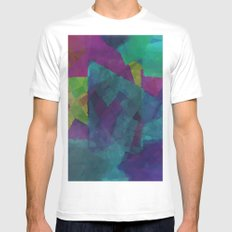 Shapes#4 MEDIUM White Mens Fitted Tee