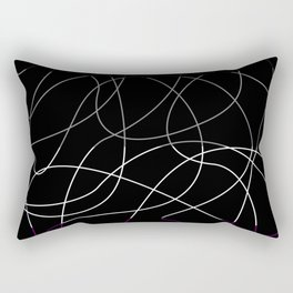 Abstract Threads – Asexual Pride Flag Rectangular Pillow