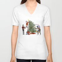 1d V-neck T-shirts featuring 1D XMAS by Tina Rojas