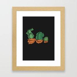 Cute Cactai Family Framed Art Print