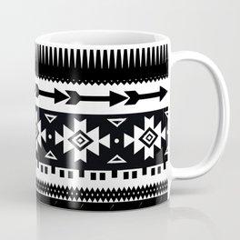 Aztec Pattern Black and White Coffee Mug