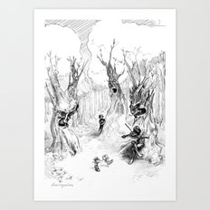 Finn and the Fiddler Art Print