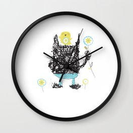 Black cats dig velour! Wall Clock