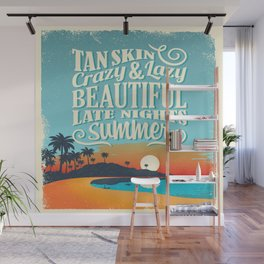 Crazy & lazy Summer Wall Mural
