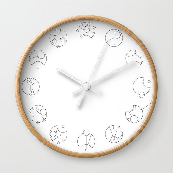 Gallifreyan Clock (Plain) Wall Clock