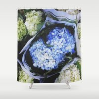 peonies Shower Curtains featuring Peonies by Alden Terry