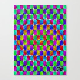 Tumbler #4 Psychedelic Optical Illusion Design by CAP Canvas Print