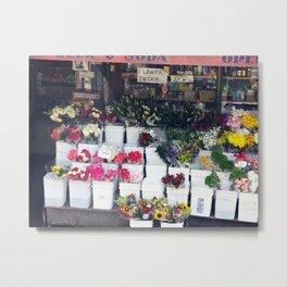Flowershop Metal Print