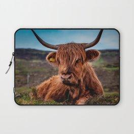 Scottish Highland longhorns Rancher Laptop Sleeve
