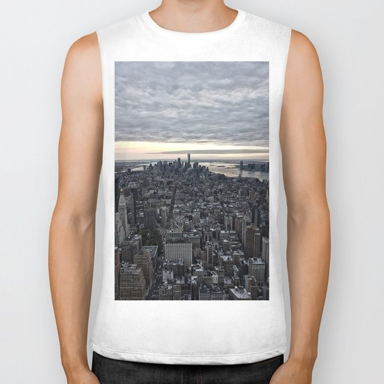 New York skyline x Biker Tank