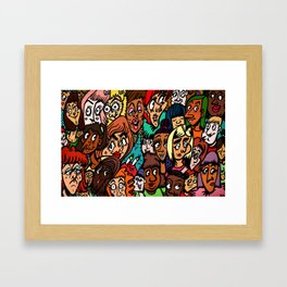 Faces of Women 2K15 Framed Art Print