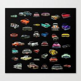 Car Cluster Canvas Print