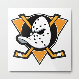 Anaheim Mighty Ducks orange triangle Metal Print