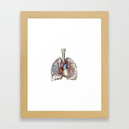 Fill Your Lungs. Vintage Colour Print Illustration Framed Art Print