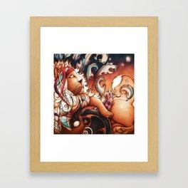 Hippy Lion Framed Art Print