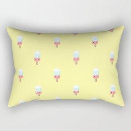 Kawaii melting popsicle pattern Rectangular Pillow
