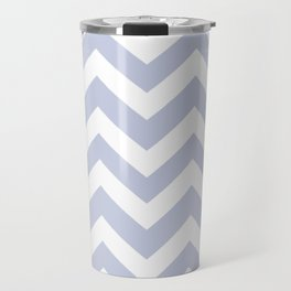 Light periwinkle - heavenly color - Zigzag Chevron Pattern Travel Mug