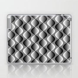 Abstract geometric grayscale pattern  Laptop & iPad Skin
