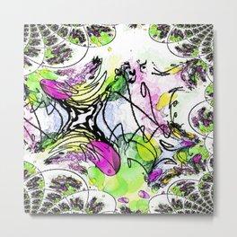Chaotic Nonsense-Abstract Metal Print