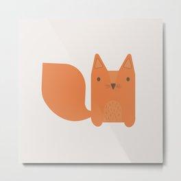 Foxy Friend Metal Print