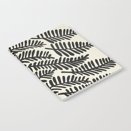 Black Fronds Notebook