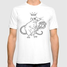 Rat King White SMALL Mens Fitted Tee