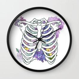 Ribbed Lilacs Wall Clock