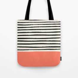 Coral x Stripes Tote Bag