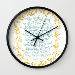Take Delight in the Lord- Psalm 37:4-6 Wall Clock