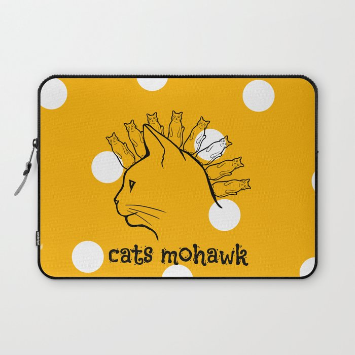 Cats Mohawk Laptop Sleeve