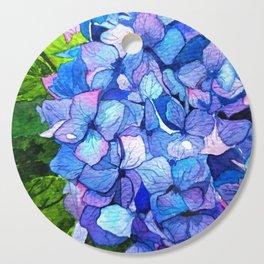 Vibrant Blue Hydrangea Cutting Board
