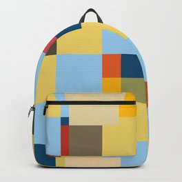 Childrens Corner - Colorful Abstract Pixel Patchwork Pattern Backpack