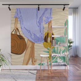 I followed my heart & it led me to the beach #painting #travel Wall Mural