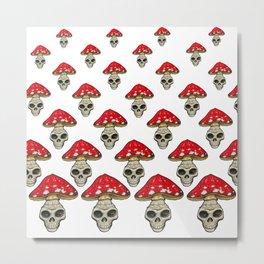 Skull mushroom  Metal Print