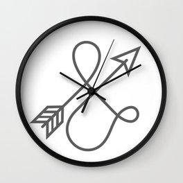 Follow your arrow - no matter the direction. Wall Clock