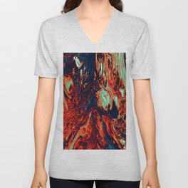 Distorted Waterfall Unisex V-Neck